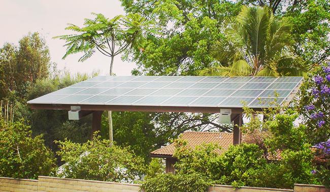 Residential Solar Patio Cover in Anaheim California